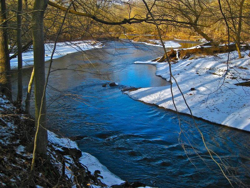 East Branch Brandywine Creek in the winter.