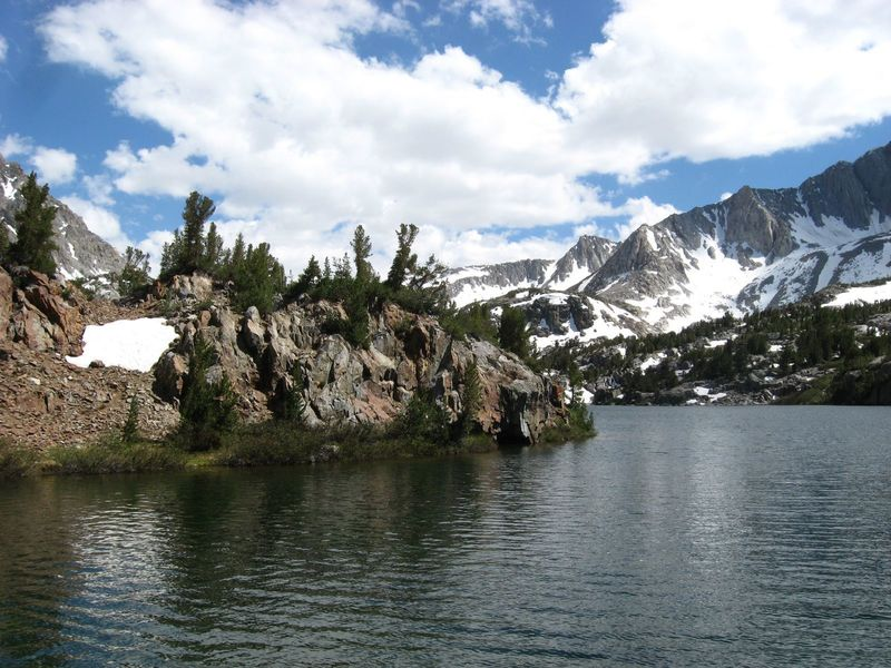 Rocky shores of Long Lake.