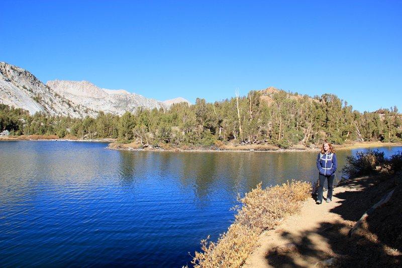 Trail through side of Long Lake.