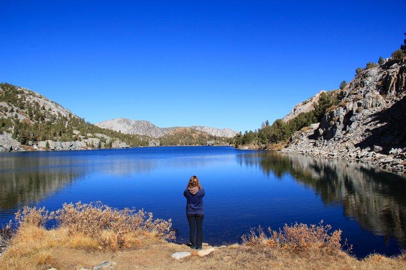 Marlena looking above the Long Lake.