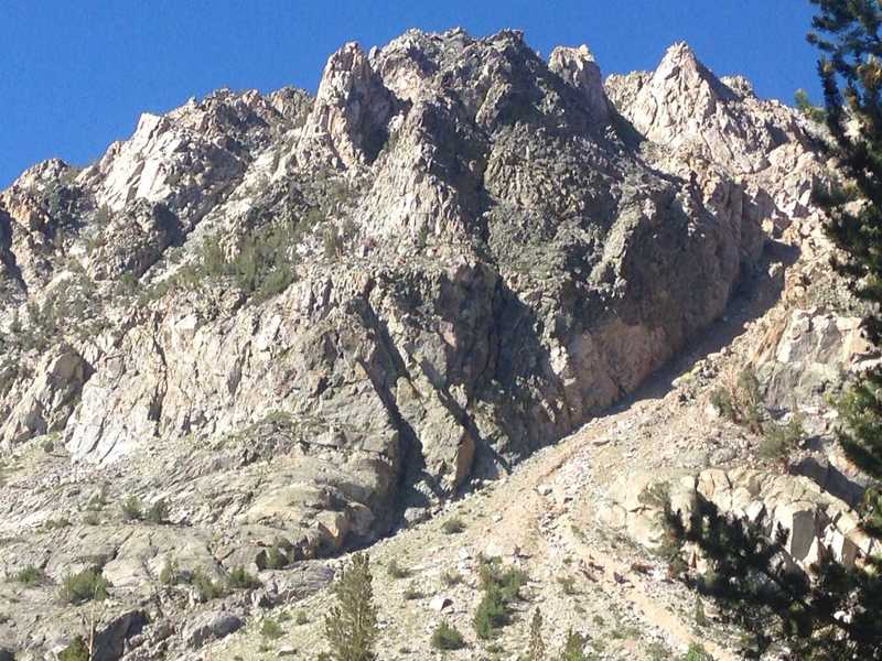 A view of some of the spires along the south side of Piute Canyon.