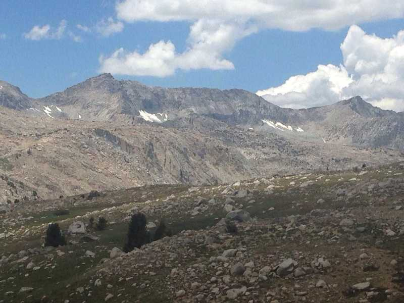 A view of a large unbroken section of the Glacier Divide above the Matthes Glaciers.