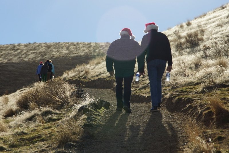 The Canyon Trail makes for an excellent holiday outing. Pictured here on Christmas 2013.