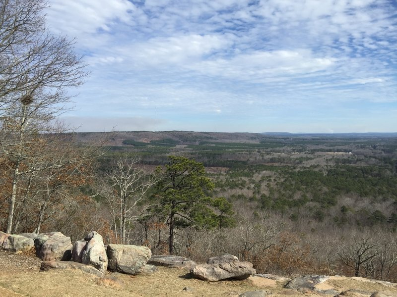 Great expansive view to the south at Dowdell Knob Loop.