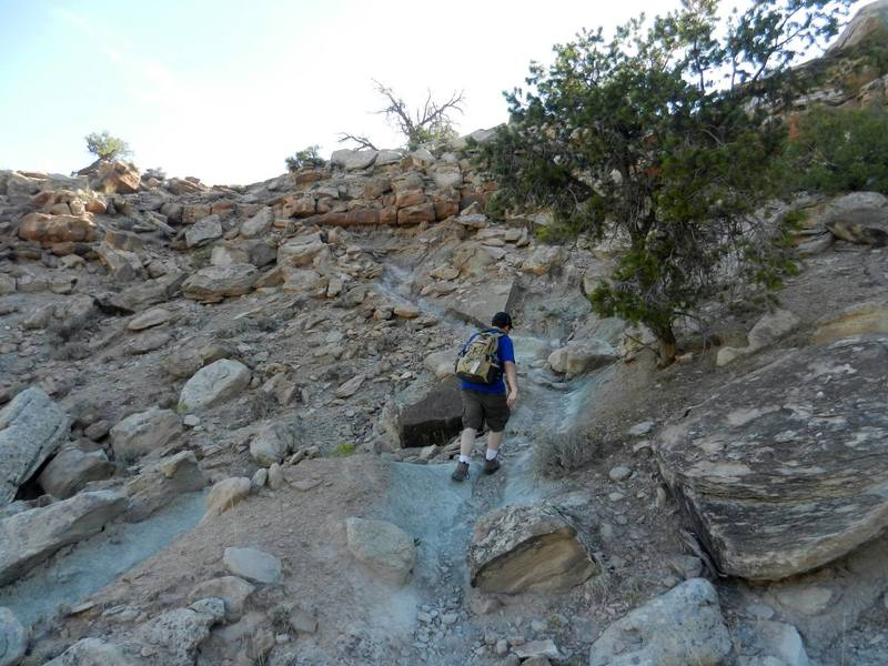Wedding Canyon is unmaintained. Careful footing is needed.