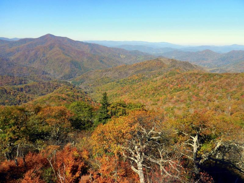 From the lookout tower in October - beautiful fall color.