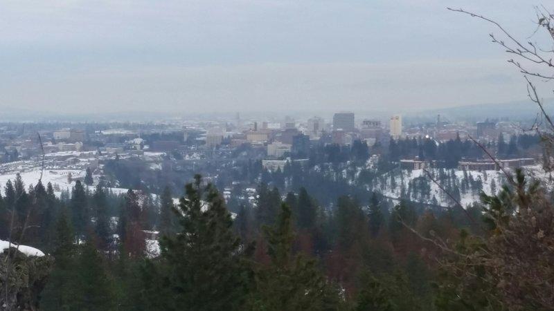 Winter in downtown Spokane