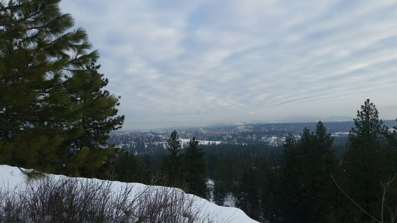 Mt. Spokane in the clouds