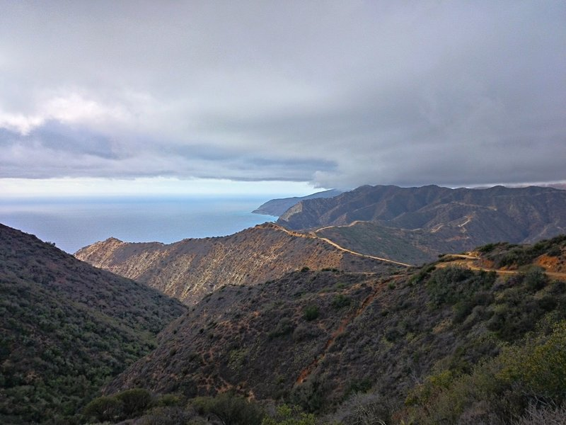 Catalina's southern knoll shows off at sunset on the Trans Catalina Trail.