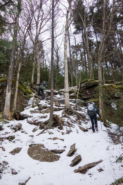 Climbing West Kill Mtn on the Devil's Path Trail.