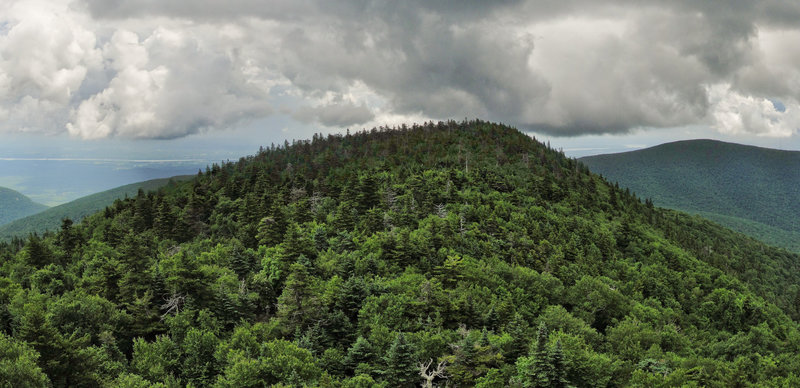 View from Devil's Path east of Indian Head Mountain in Catskill Mountains.