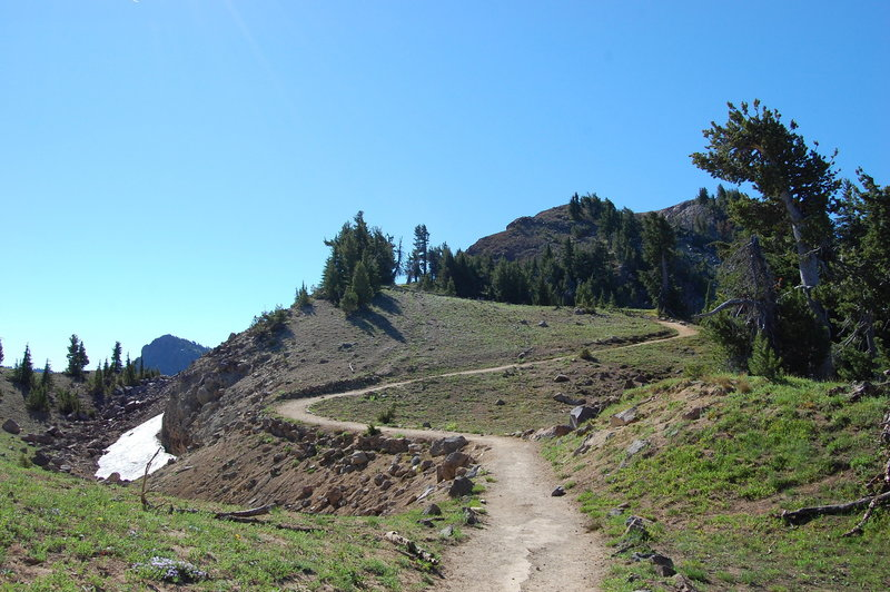 The Garfield Peak Trail ascends through some spectacular country.
