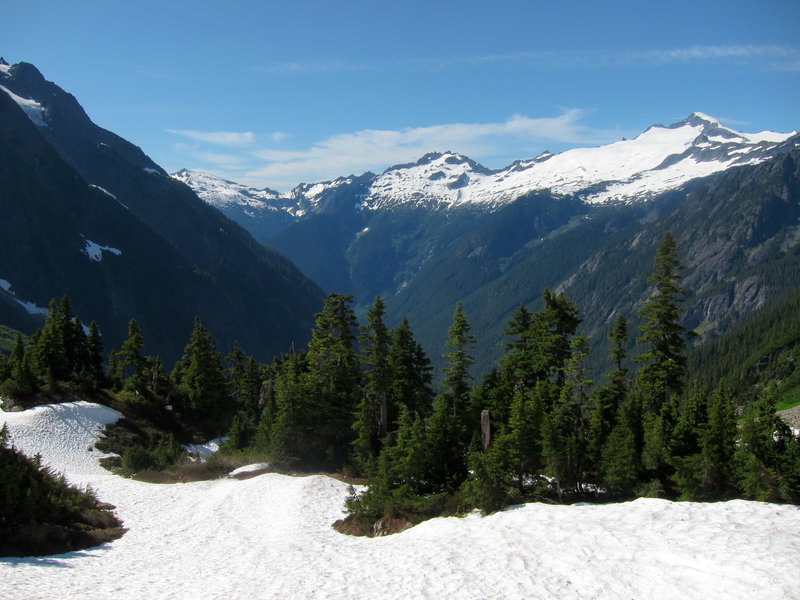 View from the Cascade Pass Trail.