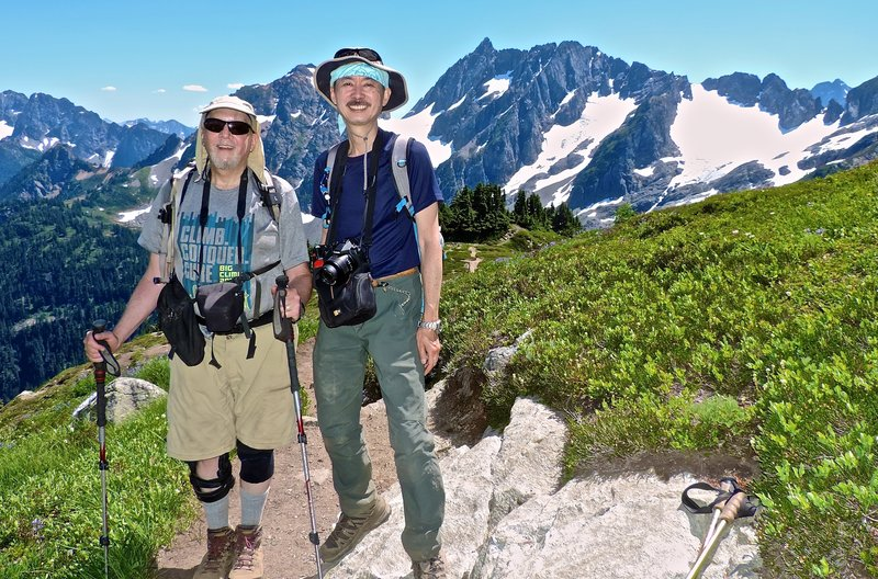 Bob, here with Yaz on the way to Cascade Pass.