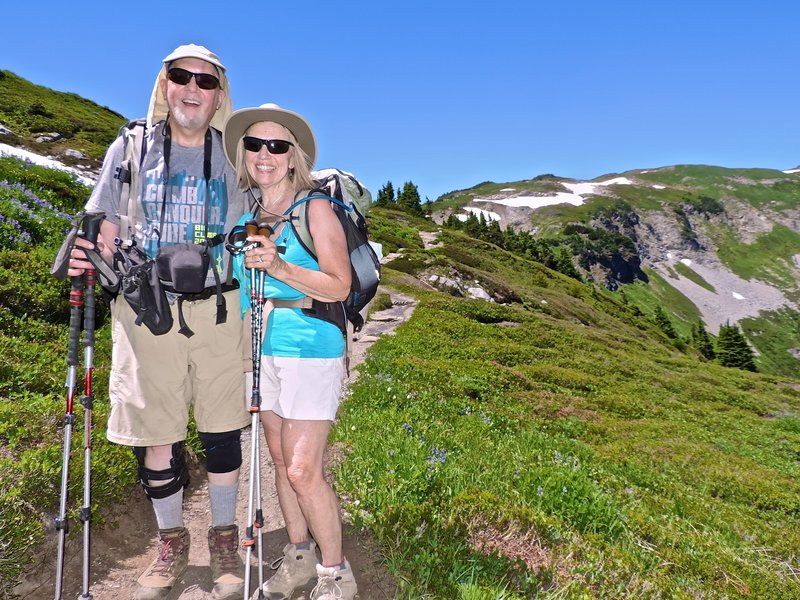 Bob and Rudi on Cascade Pass Trail.