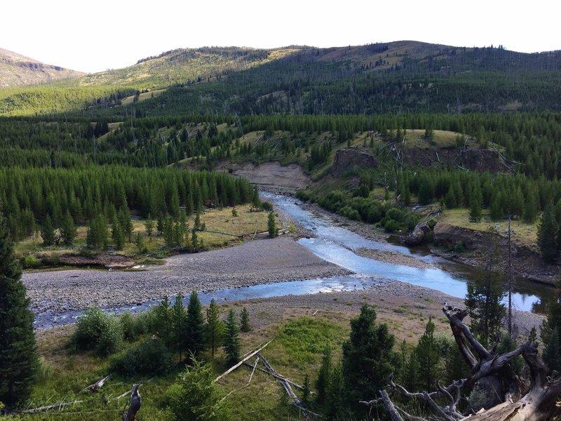 Cache Creek/Lamar River confluence.