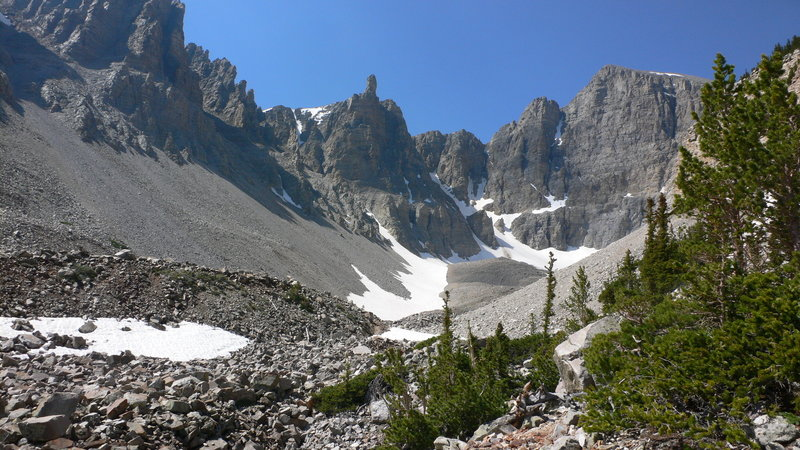 View of the peaks.