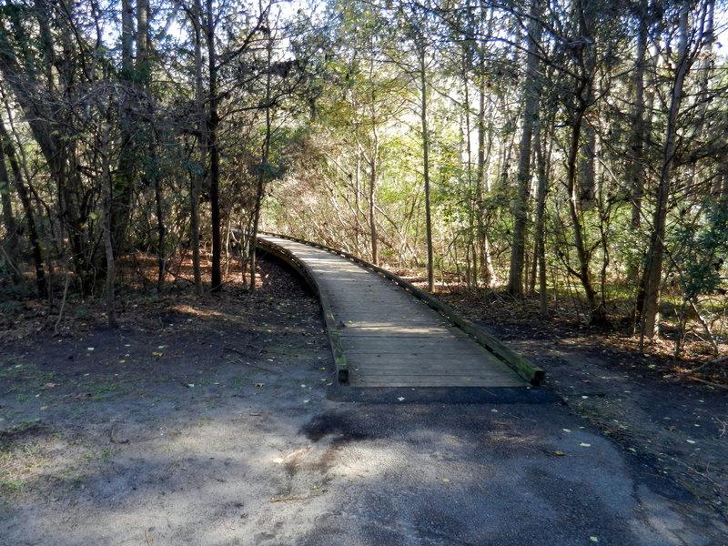 Short boardwalk for part of the loop.