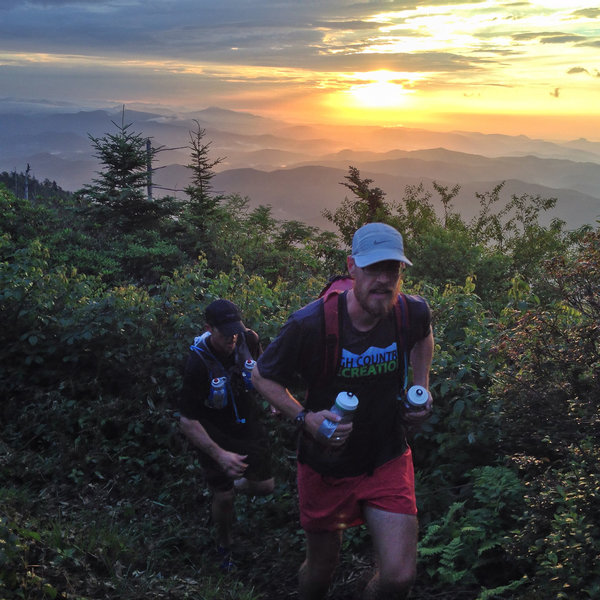 Running along the crest of the Black Mountains of NC.