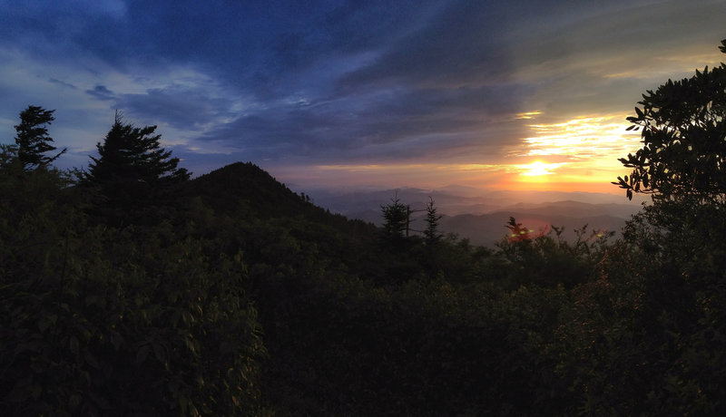 Sunrise on the Black Mountain Crest Trail.