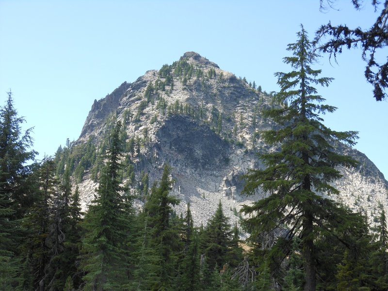 Union Peak as seen from the fork between the PCT and Union Peak trail.