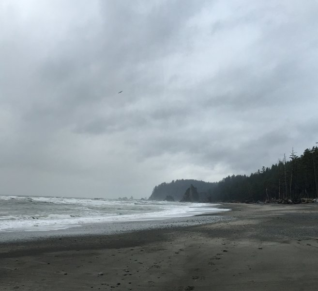 Overcast and rainy day, but the scenery more than made up for it!