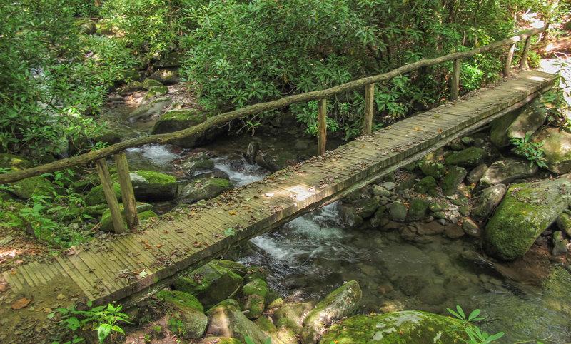 Narrow bridge over the river.