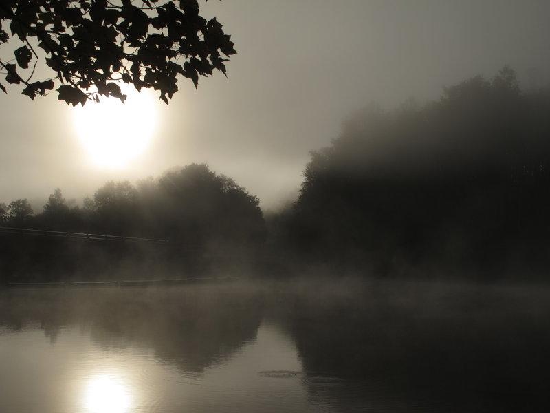 Lake fog.
