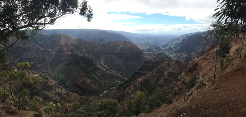 Fine view from the Canyon Trail into Waimea Canyon.