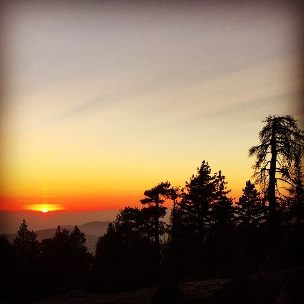 Sierra Sunset from Panoramic Point - Kings Canyon NP.