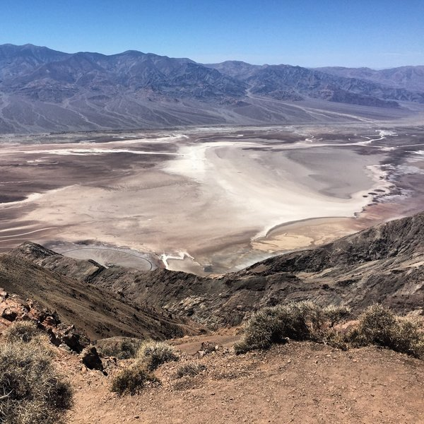 View of Badwater Basin from Dante's View - Death Valley NP