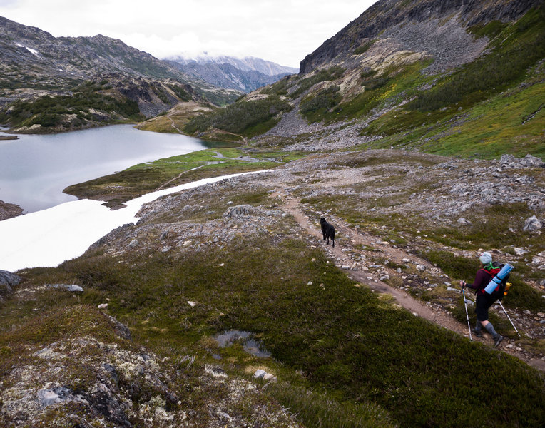 Hiking the Chilkoot Trail.