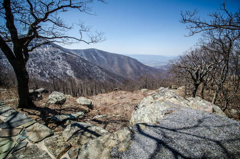 Crescent Rock Overlook in early spring.