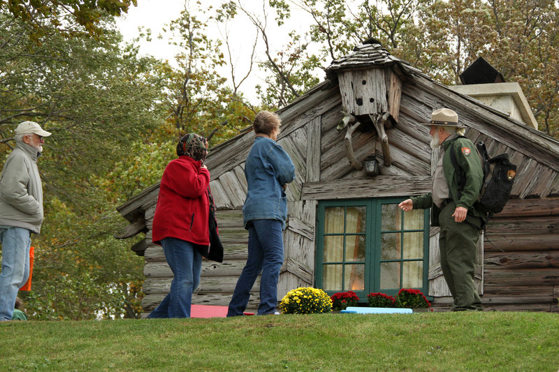 Annual October Century of Progress homes tour. Cypress Log Cabin.