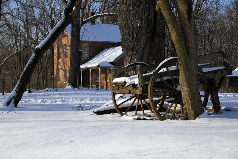 Winter at the Chellberg Farm.
