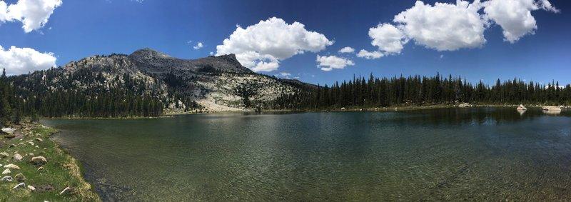 Unicorn Peak and Elizabeth Lake.