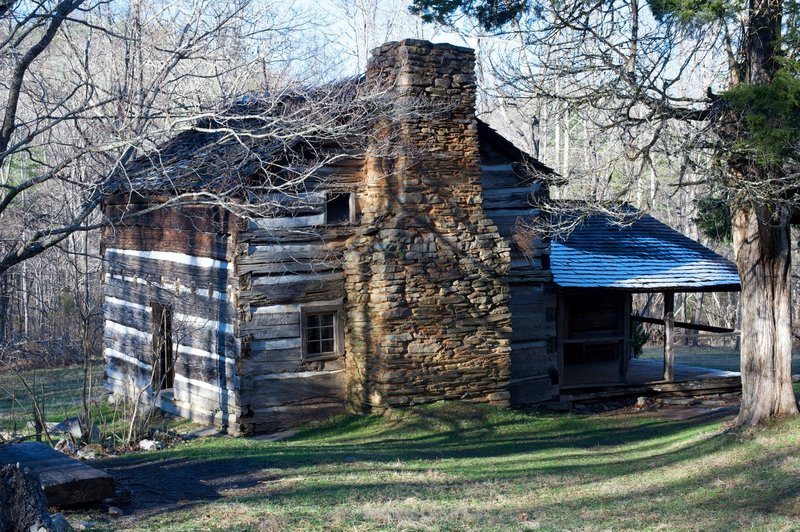 Walker Sisters cabin, a short detour from the trail.