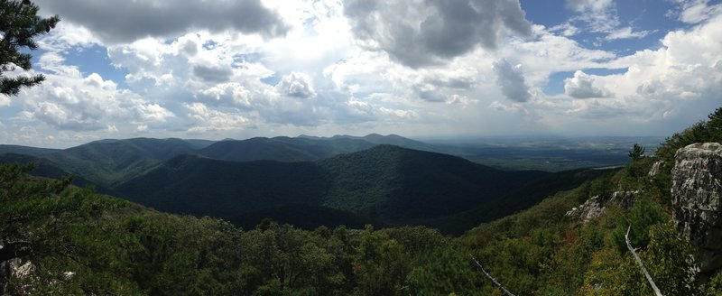 Looking South from Rocky Mount in Shenandoah National Park