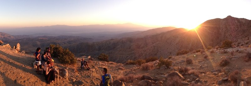 Keys View sunset with friends.