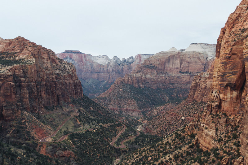 Zion National Park from Canyon Overlook