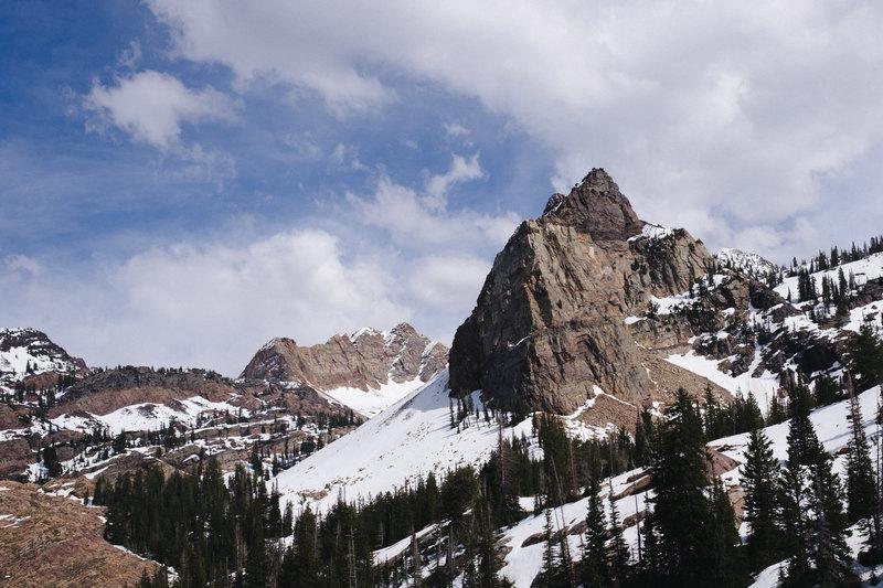 Sundial Peak at Lake Blanche.
