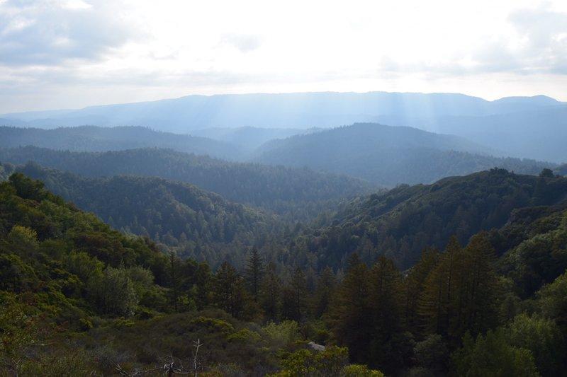 The blue mountains of Santa Cruz!