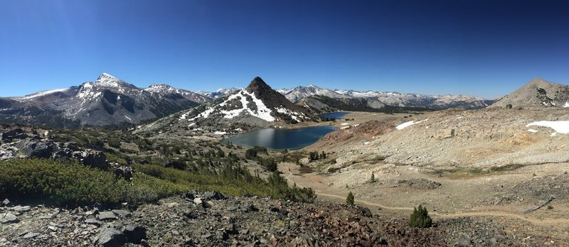 A view of the Gaylor Lake Basin and surrounding peaks.