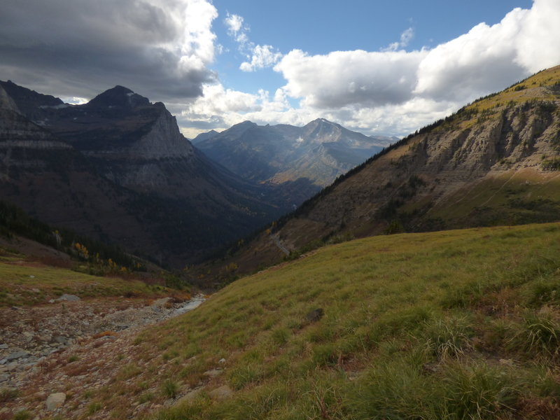 McDonald Creek Valley from the Highline Trail