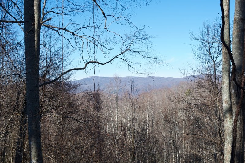 Views of the surrounding mountains as you make your way to Cucumber Gap.