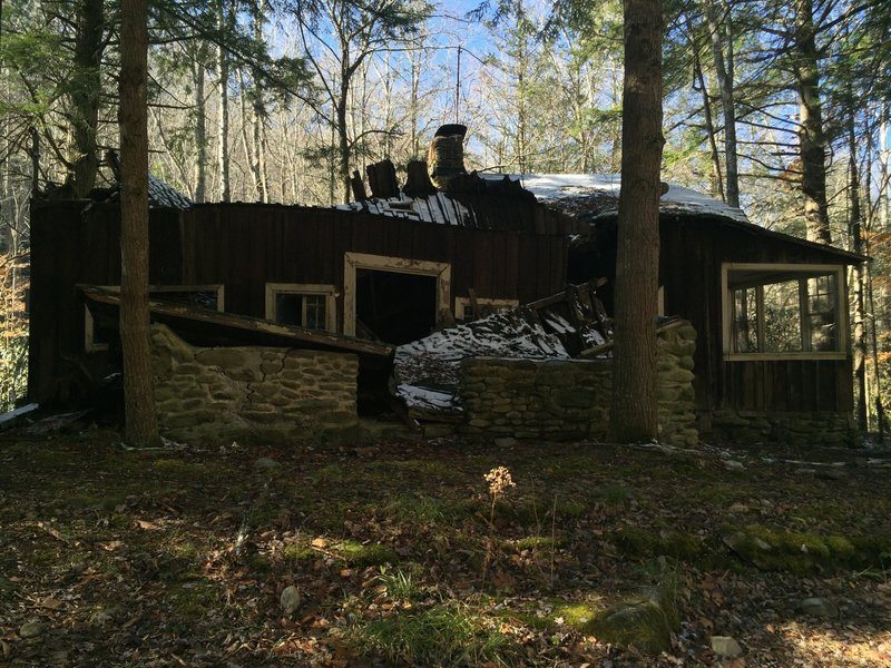 Dilapidated homes in the Elkmont campground area.
