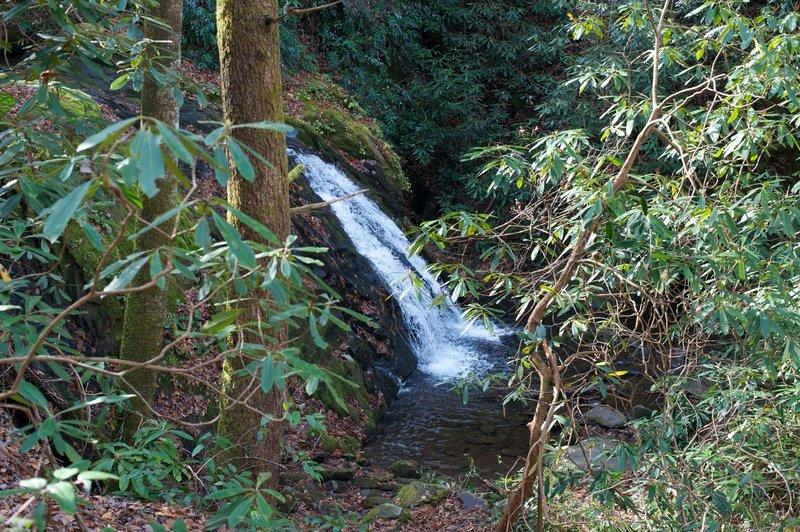 Small cascade on Meigs Creek alongside the trail.