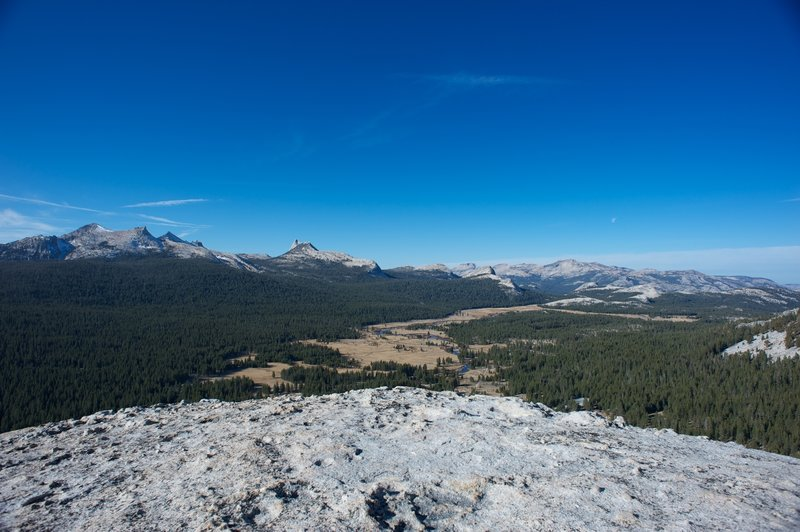 Tuolumne Meadows and the Cathedral range in early November.