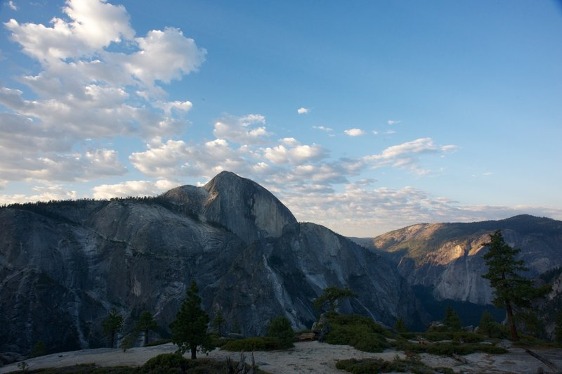Half Dome and Glacier Point in the morning light.