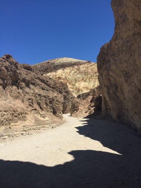 Entrance to Golden Canyon